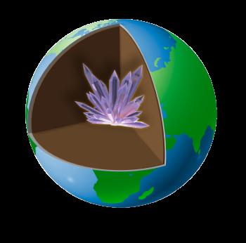 Cristallo al centro della Terra